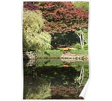 Butchart Gardens Reflections Poster