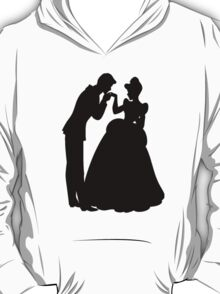 Cinderella and Prince Charming Silhouette T-Shirt