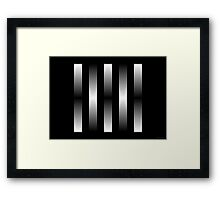 Silver Ribbons #3 (abstract graphic art) Framed Print