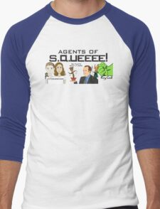Agents of SQUEEEE!!!!!! Men's Baseball ¾ T-Shirt