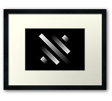 Silver Ribbons #6 (abstract graphic art) Framed Print