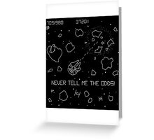 Star Wars Asteroids Greeting Card