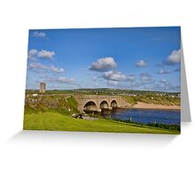 bridge over lahinch , golf course, county clare, ireland. famous irish tourist holiday attraction Greeting Card