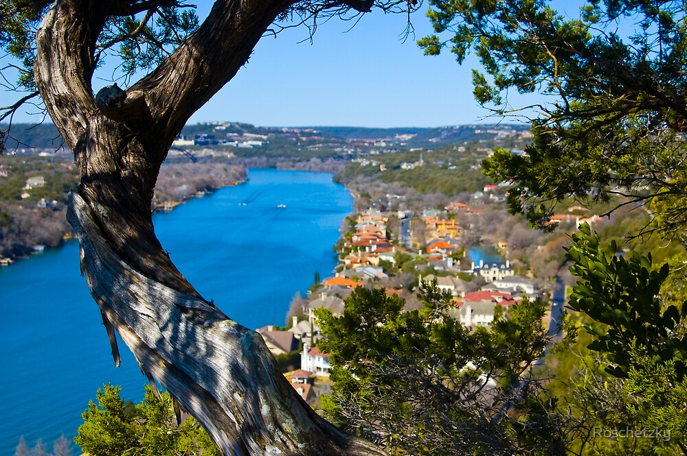 Looking through the natural window at Mt. Bonnell by Roschetzky