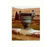 Antiqued Chateau de Versailles Art Print