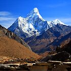 Ama Dablam from Khumjung by Philip Alexander
