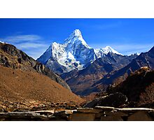 Ama Dablam from Khumjung Photographic Print