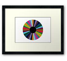 Exploding Eye (abstract graphic art) Framed Print