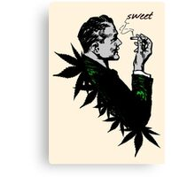 Politics and Weed - Sweet - Politician Smoking Weed Pot Marijuana Hemp T Shirts Stickers and Art Canvas Print