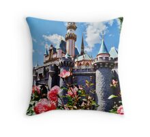 Castle Roses Throw Pillow