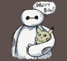 baymax and hairy baby pikachu plush by moosegod