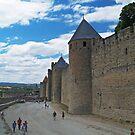 City Wall, Carcassonne by WatscapePhoto