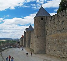 City Wall, Carcassonne by WatscapePhoto