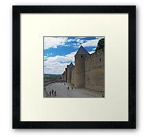 City Wall, Carcassonne Framed Print