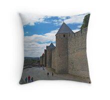 City Wall, Carcassonne Throw Pillow