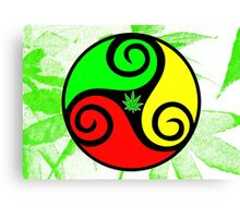Reggae Love Vibes - Cool Weed Pot Reggae Rasta T-Shirt Stickers and Art Prints with Grunge Texture Canvas Print