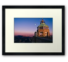Mt. Diablo Lookout Tower at Twilight Framed Print