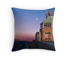 Mt. Diablo Lookout Tower at Twilight Throw Pillow