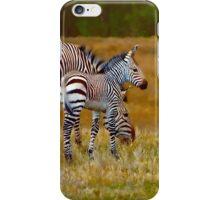 Zebra Mom and Foal iPhone Case/Skin