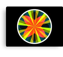 Exploding Plastic Rainbow #10 (abstract graphic art) Canvas Print