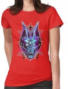 Mystic Wolf  Womens Fitted T-Shirt
