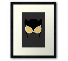 Catwoman Mask Framed Print