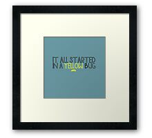 In A Yellow Bug Framed Print