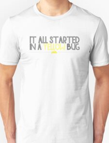 In A Yellow Bug T-Shirt