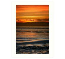 Dunnet Beach Sunset, Caithness, Scotland Art Print