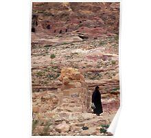 Local arab woman in Jordan Poster