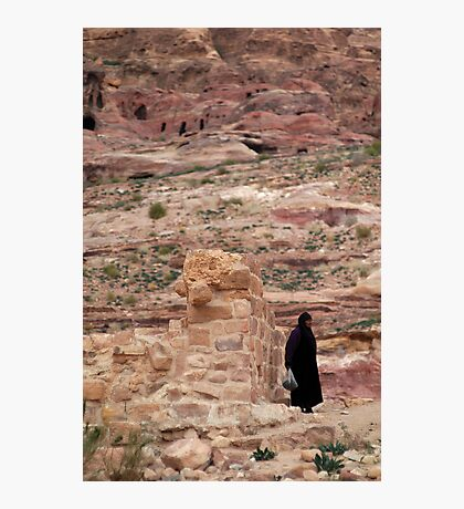 Local arab woman in Jordan Photographic Print