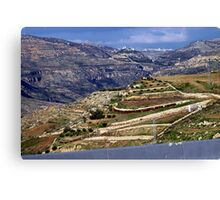 Landscape in Jordan Canvas Print
