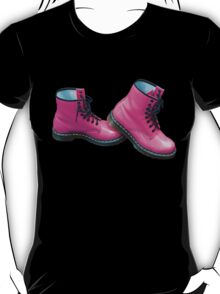 Hot Pink Safety Boots T-Shirt