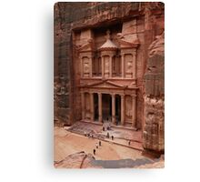 'The Treasury' in Petra, Jordan Canvas Print