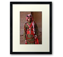 Guard at Petra, Jordan Framed Print
