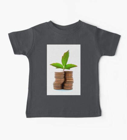 Copper Coins With Plant Growth Baby Tee