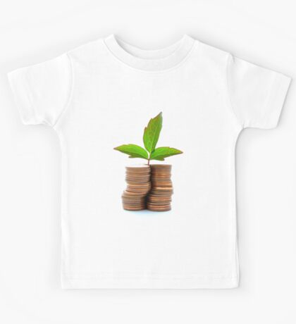 Copper Coins With Plant Growth Kids Tee