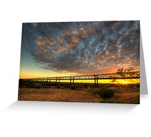 Sunrise Over Algebuckina Bridge Greeting Card