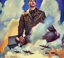 O'er the ramparts we watch - WW2 Propaganda Poster - USAAF World War 2 by verypeculiar