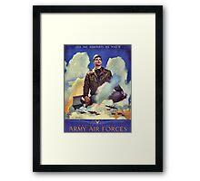 O'er the ramparts we watch - WW2 Propaganda Poster - USAAF World War 2 Framed Print