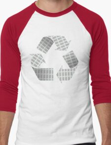 Recycle Newspaper Symbol Men's Baseball ¾ T-Shirt