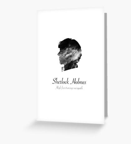 Sherlock Holmes, high functioning sociopath Greeting Card