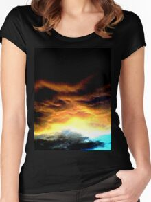 Benwell Sunset Women's Fitted Scoop T-Shirt