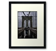 Rainy Day in Brooklyn Framed Print