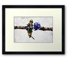 legend of zelda link snow figma Framed Print