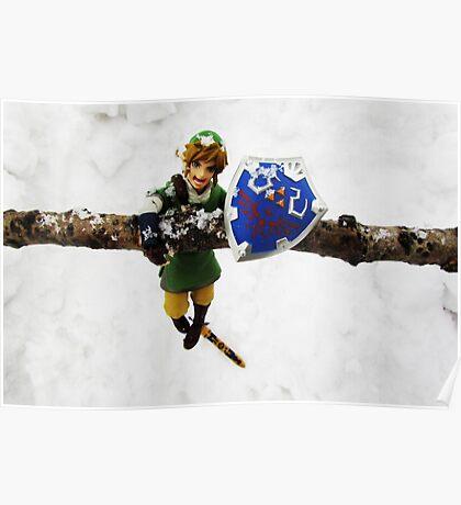 legend of zelda link snow figma Poster