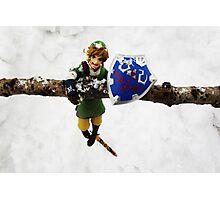 legend of zelda link snow figma Photographic Print