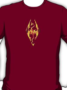 Skyrim Logo On Fire T-Shirt