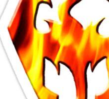 Skyrim Logo On Fire Sticker