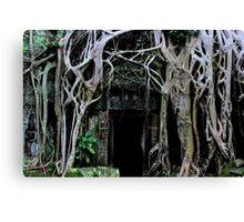 Ta Prohm Temple Door III - Angkor, Cambodia. Canvas Print